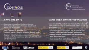 Workshop of Copernicus Atmosphere Monitoring Service (CAMS)